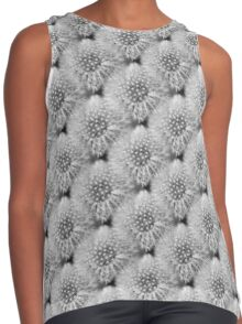 Fluffy White Dandelion In Black And White Contrast Tank
