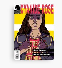 CYANIDE ROSE - comic book cover! Canvas Print