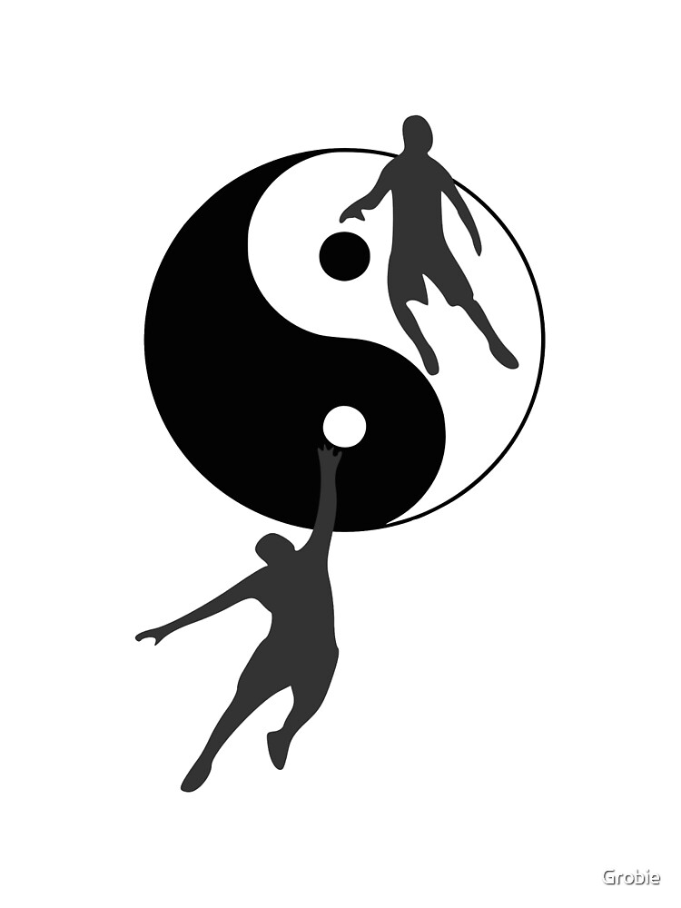 Basketball Yin and Yang by Grobie