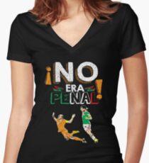 No Era Penal (It wasn't a penalty) Women's Fitted V-Neck T-Shirt
