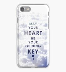 May your Heart be your guiding Key - Background version  iPhone Case/Skin
