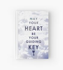 May your Heart be your guiding Key - Background version  Hardcover Journal