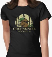 Chef's Knife Womens Fitted T-Shirt