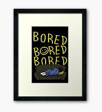 Bored - Sherlock Framed Print