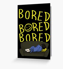 Bored - Sherlock Greeting Card