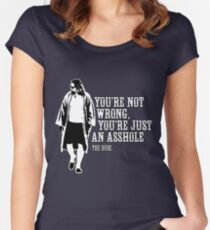 The Big Lebowski - quote Women's Fitted Scoop T-Shirt