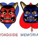 Roadside Memorial Oni Masks Tee by caseycastille