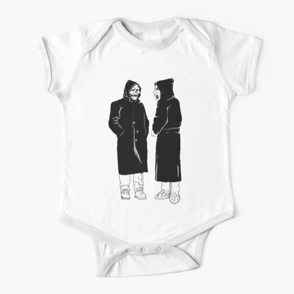 brand new - the devil and god  Short Sleeve Baby One-Piece