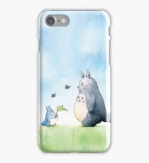 Totoro with Butterflies  iPhone Case/Skin