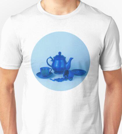Blue Tea Party Wahnsinn Stillleben T-Shirt