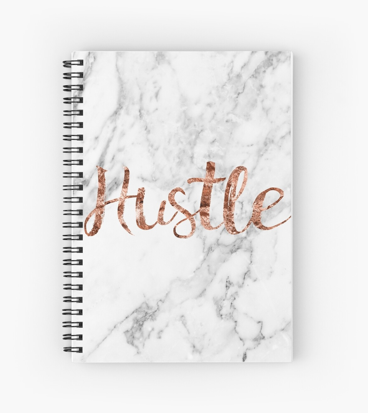 Quot Hustle Rose Gold Marble Quot Spiral Notebook By Peggieprints