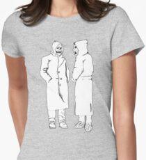 brandneu - der Teufel und Gott Tailliertes T-Shirt für Frauen