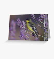 Goldfinch at Palomino Valley Greeting Card