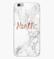 Hustle rose gold marble iPhone Case