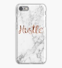Hustle rose gold marble iPhone Case/Skin
