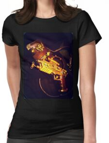 Steampunk Gun and Holster 1.1 Womens Fitted T-Shirt