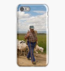 Shepherd and flock iPhone Case/Skin
