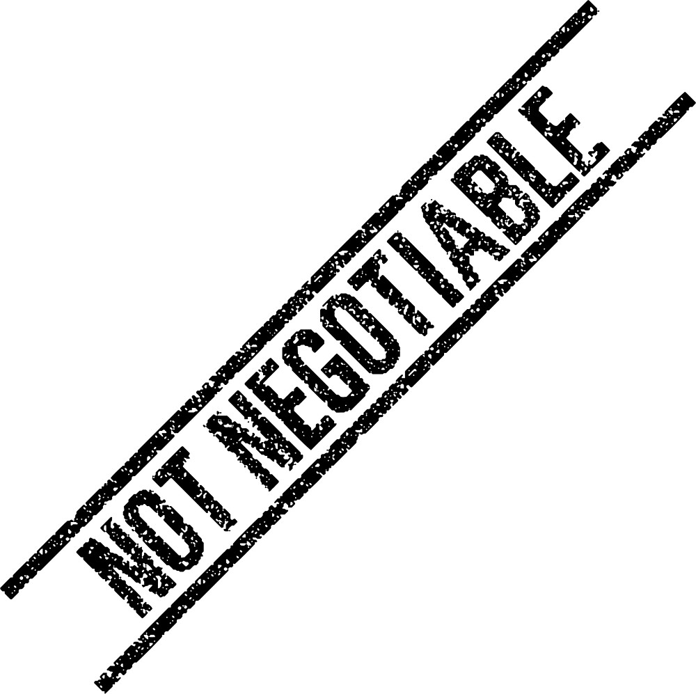 NOT NEGOTIABLE by Rupert Russell