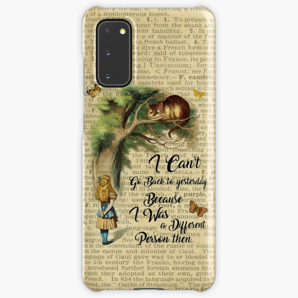 Alice in Wonderland Quote,Cheshire Cat,Vintage Dictionary Art Case & Skin for Samsung Galaxy
