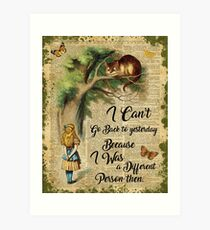 Alice in Wonderland Quote,Cheshire Cat,Vintage Dictionary Art Art Print
