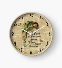 Alice in Wonderland Quote,Cheshire Cat,Vintage Dictionary Art Clock