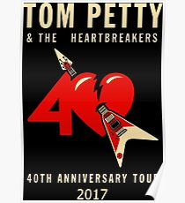 SUN01 Tom Petty & The Heartbreakers 40th Anniversary Tour 2017 Poster
