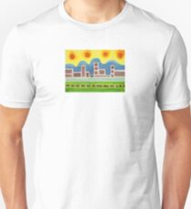 Surreal Simplified Cityscape  T-Shirt