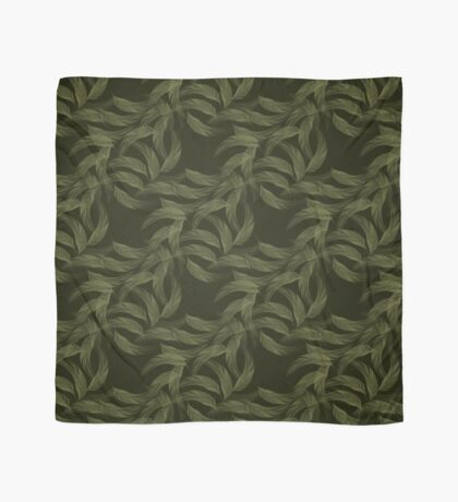 Simply Feathers In Olive Green Scarf