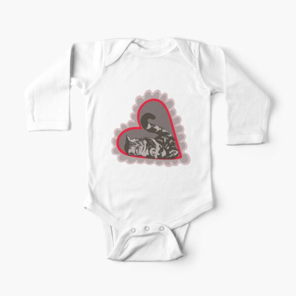 My Best Kitten Love Long Sleeve Baby One-Piece