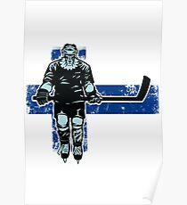 Finnish Lion Hockey Player  Poster
