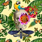 TROPICAL SKULL  by GloriaSanchez