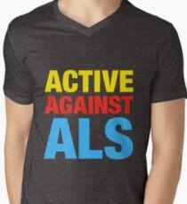 Active Against ALS Men's V-Neck T-Shirt