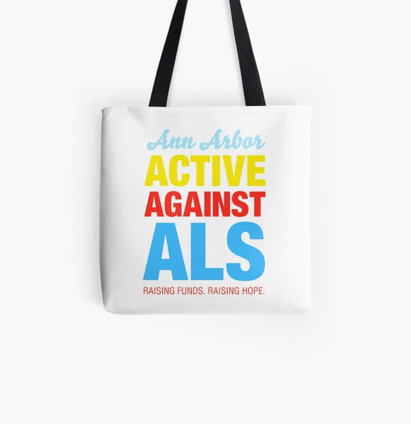 Ann Arbor Active Against ALS All Over Print Tote Bag