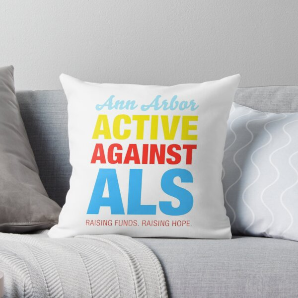 Ann Arbor Active Against ALS Throw Pillow
