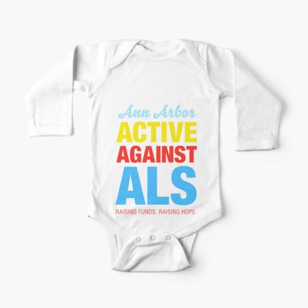 Ann Arbor Active Against ALS Long Sleeve Baby One-Piece