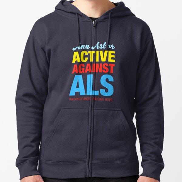 Ann Arbor Active Against ALS Zipped Hoodie