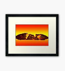 Charcoal fire Framed Print