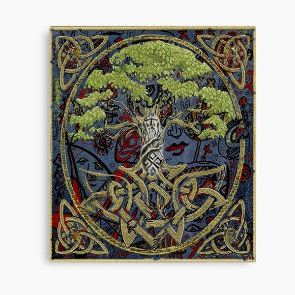 Perun ,oak and druids Canvas Print