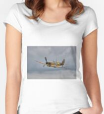 Guy Martin`s Spitfire 1 Women's Fitted Scoop T-Shirt