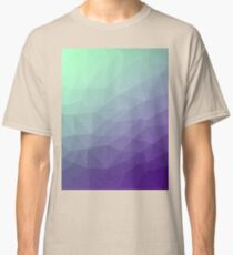 Purple green ombre gradient geometric mesh Classic T-Shirt