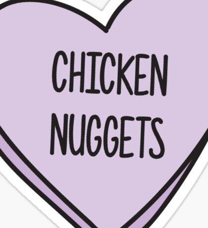 chicken nugget love Sticker
