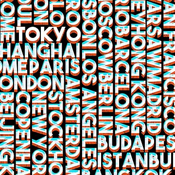 Tokyo - City names typo graphic by ohaniki