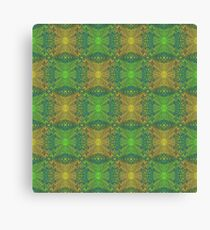 """""""Oak King"""", bohemian pattern in yellow and green tones Canvas Print"""