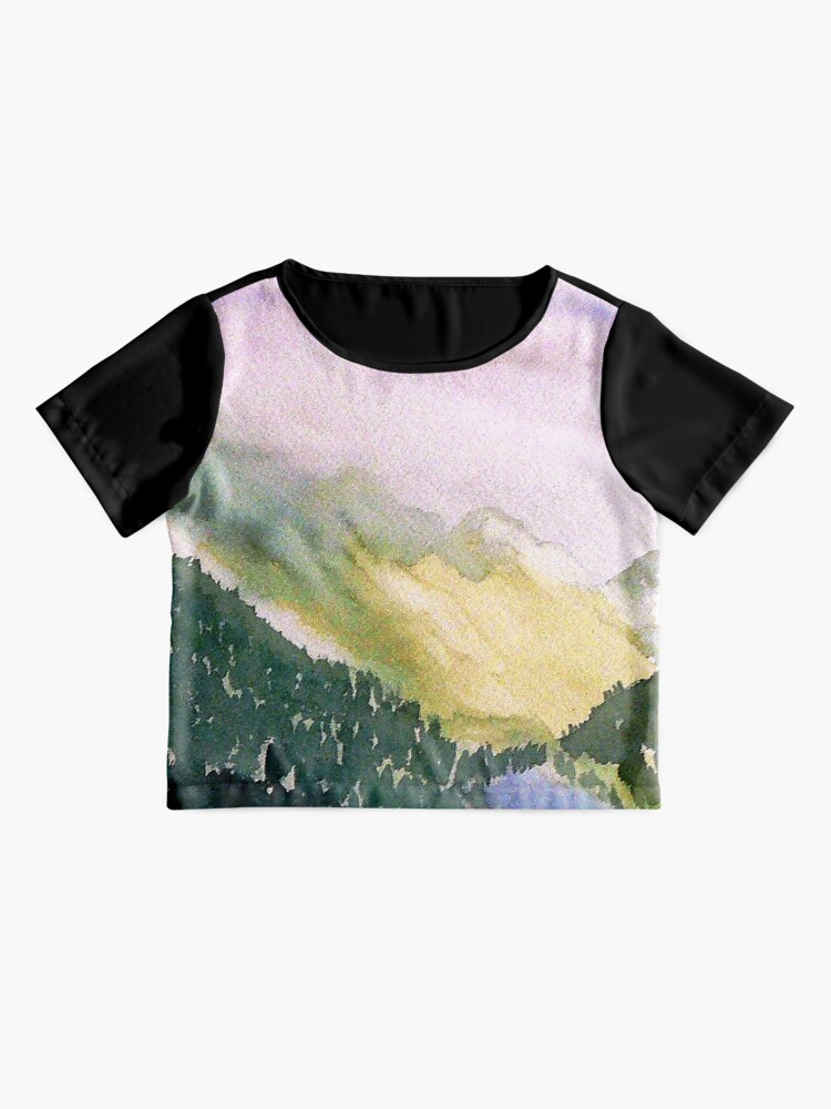 Alternate view of Olympic National Park Chiffon Top