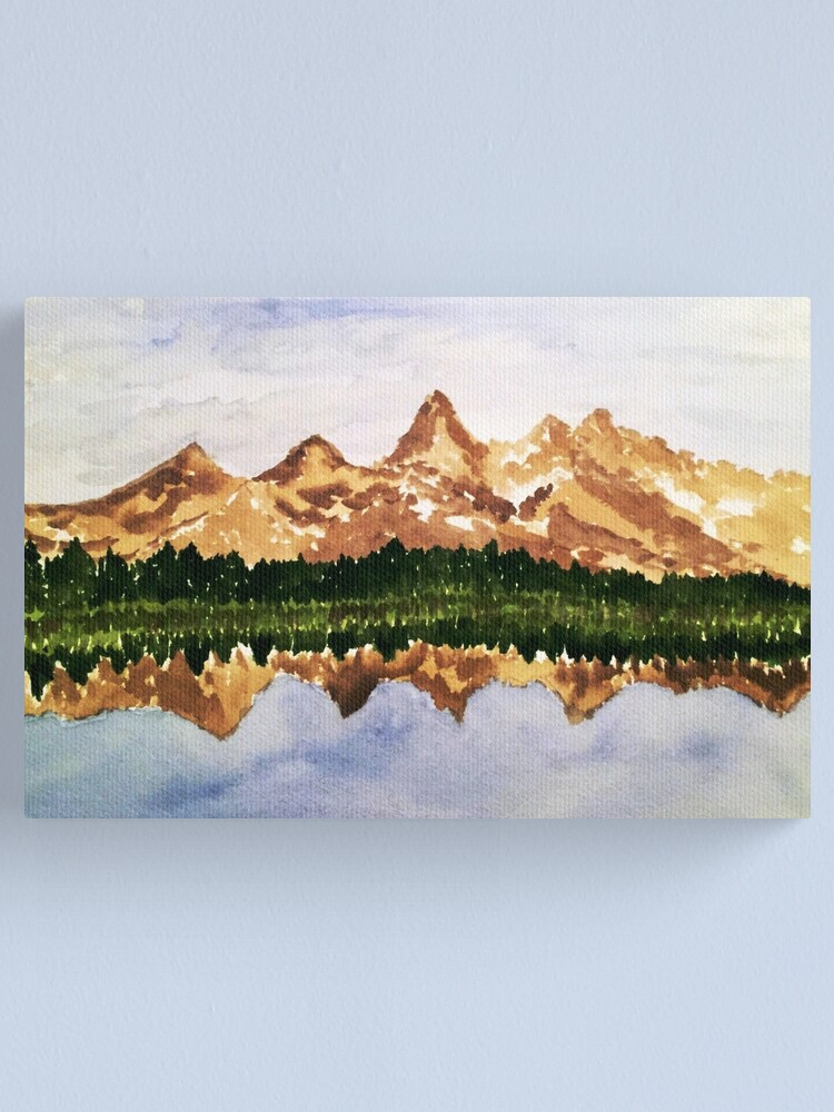 Alternate view of Grand Tetons Reflection  Canvas Print