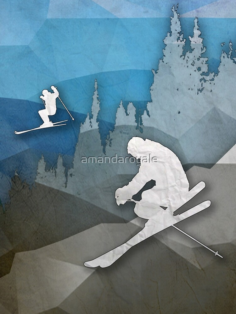 The Skiers by amandaroyale