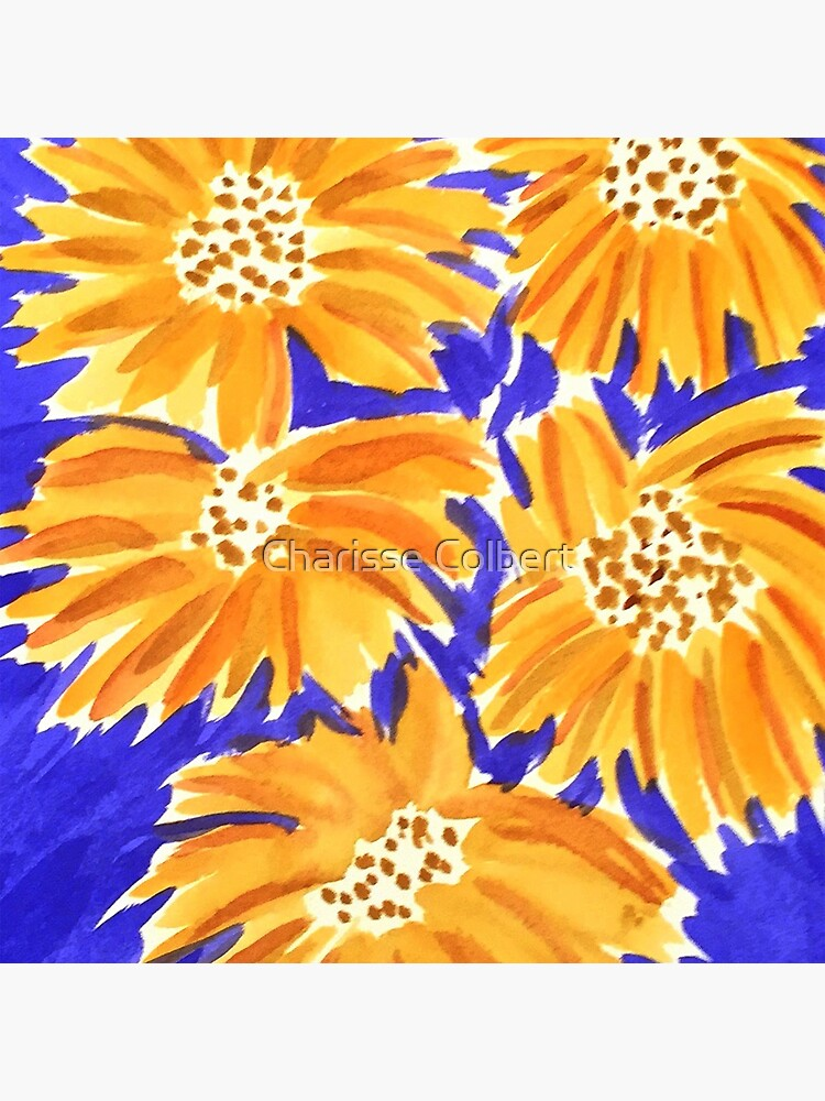 Yellow on Blue  by charissecolbert