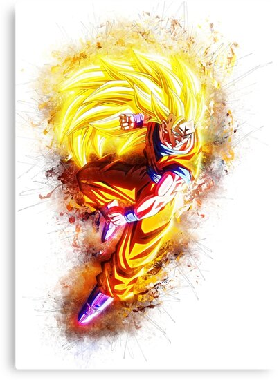 goku super saiyan 3 canvas prints by puck4001 redbubble