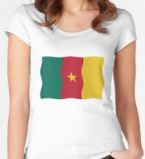 Cameroon flag Women's Fitted Scoop T-Shirt