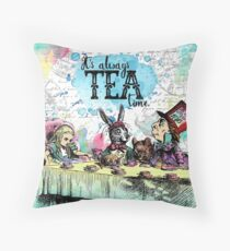 Alice in Wonderland - Tea Time Throw Pillow